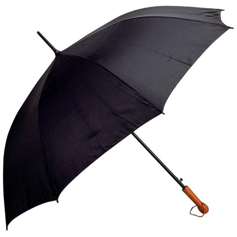 "All-Weather Elite Series 60"" Black Auto Open Golf Umbrella - Peazz.com"