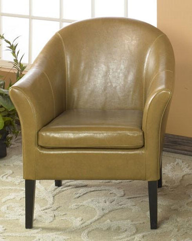 1404 Camel Leather Club Chair by Armen Living - Peazz.com