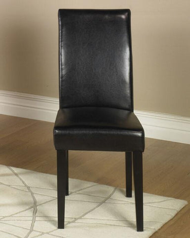 Black Leather Side Chair2 Pack Md-014  by Armen Living - Peazz.com
