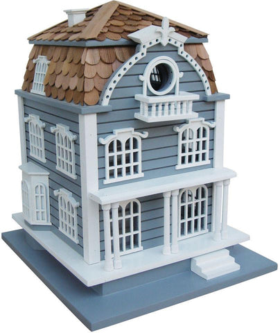 Signature Series Sag Harbor Birdhouse - Blue with Mansard Roof by Home Bazaar (HB-2031) - Peazz.com