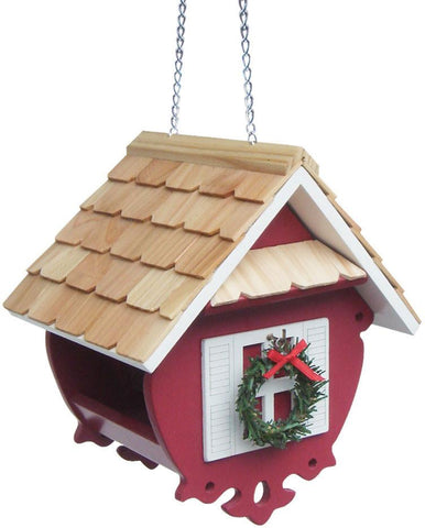 Holiday Offerings Christmas Wren Feeder (Red) by Home Bazaar (HB-2082CRS) - Peazz.com