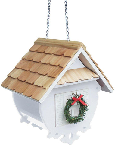 Holiday Offerings Christmas Wren Feeder (White) by Home Bazaar (HB-2082CWS) - Peazz.com