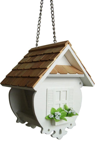 Fledgling Series Little Wren Feeder (White) by Home Bazaar (HB-2082WS) - Peazz.com