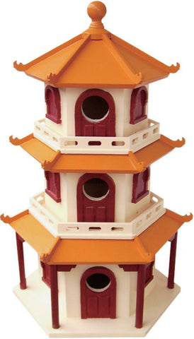 Signature Series Pagoda House Birdhouse by Home Bazaar (HB-9021S) - Peazz.com