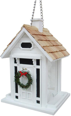 Holiday Offerings Christmas Cottage Birdfeeder (White) by Home Bazaar (HB-9033CWS) - Peazz.com