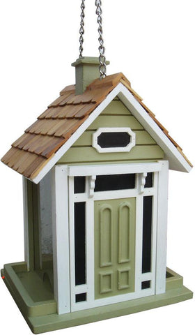 Fledgling Series Bellport Cottage Birdfeeder (Green) by Home Bazaar (HB-9033GS) - Peazz.com