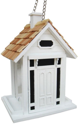 Fledgling Series Bellport Cottage Birdfeeder (White) by Home Bazaar (HB-9033WS) - Peazz.com