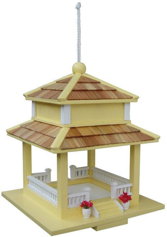 Birds Of A Feather Series The Backyard Bird Gazebo Feeder - Yellow by Home Bazaar (HB-9058YS) - Peazz.com