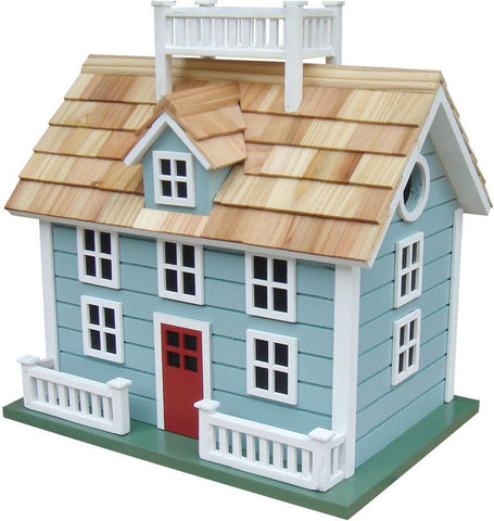 Sconset Cottage - Blue with Red Door by Home Bazaar (HB-GE-1002B) - Peazz.com