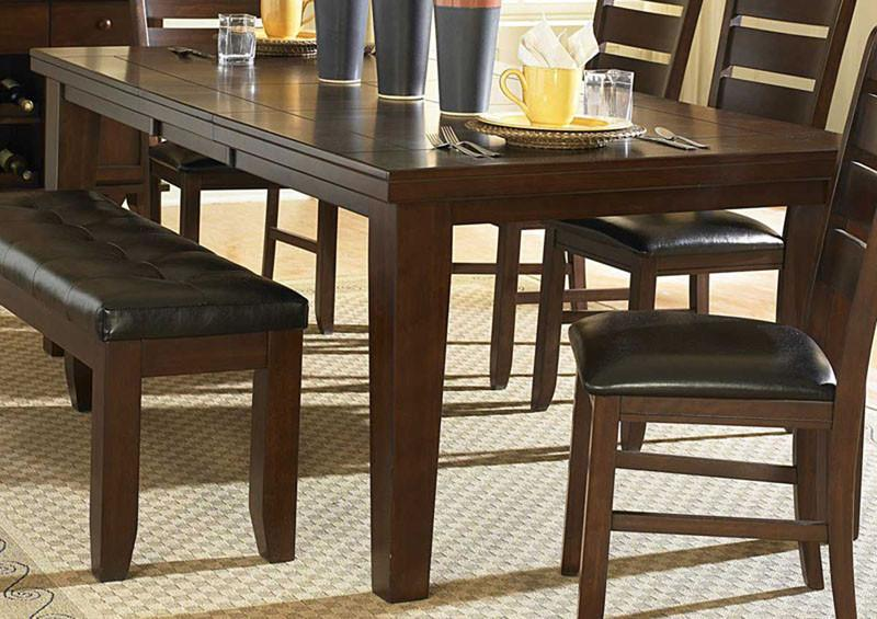 Dining Table Only Dark Oak Homelegance Ameillia 2791 Product Photo
