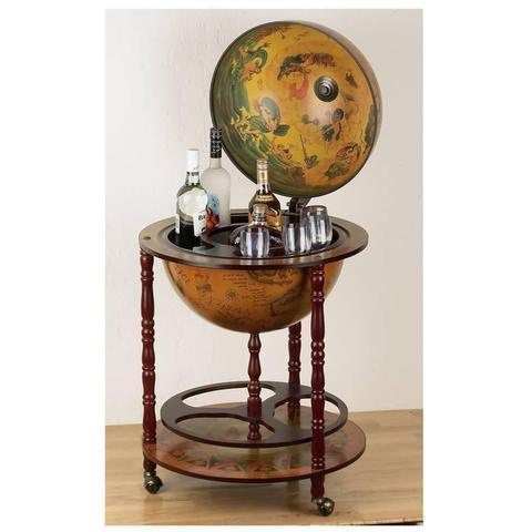 "16th Century 17-1/2"" (450mm) Diameter Italian Replica Globe Bar - WarehouseSpot"