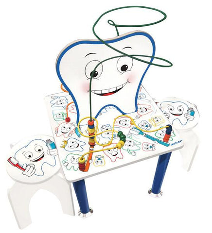 Anatex SMT2813 Smiley Tooth Table & Stools - Peazz.com