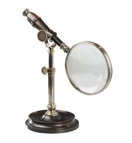 Authentic Models AC099E Magnifying Glass With Stand, Bronzed - Peazz.com