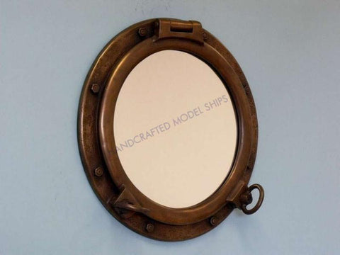 "Bronzed Porthole Window 24"" - Peazz.com"