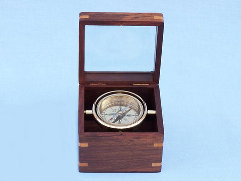 "Brass Lifeboat Compass 5"" - Peazz.com"