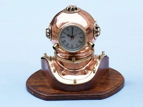 "Copper Divers Helmet Clock 12"" - Peazz.com"