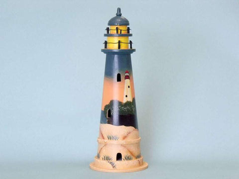 "Sunset Wooden Lighthouse 16"" - Peazz.com"