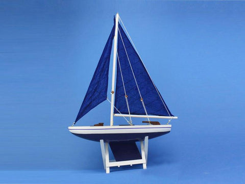 "Handcrafted Model Ships it-floats-blue-21-bluesails It Floats Blue 21"" - Blue Sails - Peazz.com"
