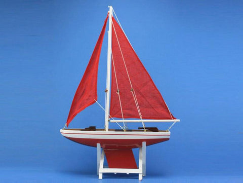 "Handcrafted Model Ships it-floats-red-21-redsails It Floats Red 21"" - Red Sails - Peazz.com"