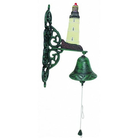 "Handcrafted Model Ships MD-175 Seaworn Cast Iron Lighthouse Bell 10"" - Peazz.com"