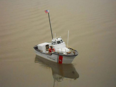 "Handcrafted Model Ships RC-USCG-Motor-Life-18 Ready To Run Remote Control USCG Motor Lifeboat 18"" - Peazz.com"
