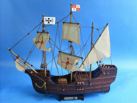 "Handcrafted Model Ships Santa-Maria-14-Cross Santa Maria 14"" - Peazz.com"