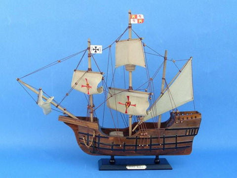 "Handcrafted Model Ships Santa-Maria-20-Cross Santa Maria 20"" - Peazz.com"
