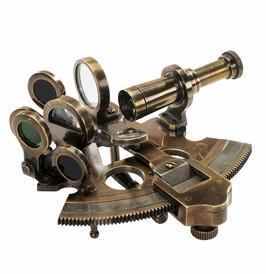 Authentic Models KA030 Bronze Pocket Sextant - Peazz.com