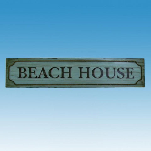 "Wooden Beach House Wall Plaque 48"" - Peazz.com"