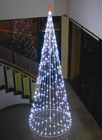 HomeBrite 12 ft. White Light Strand Christmas Tree - Peazz.com