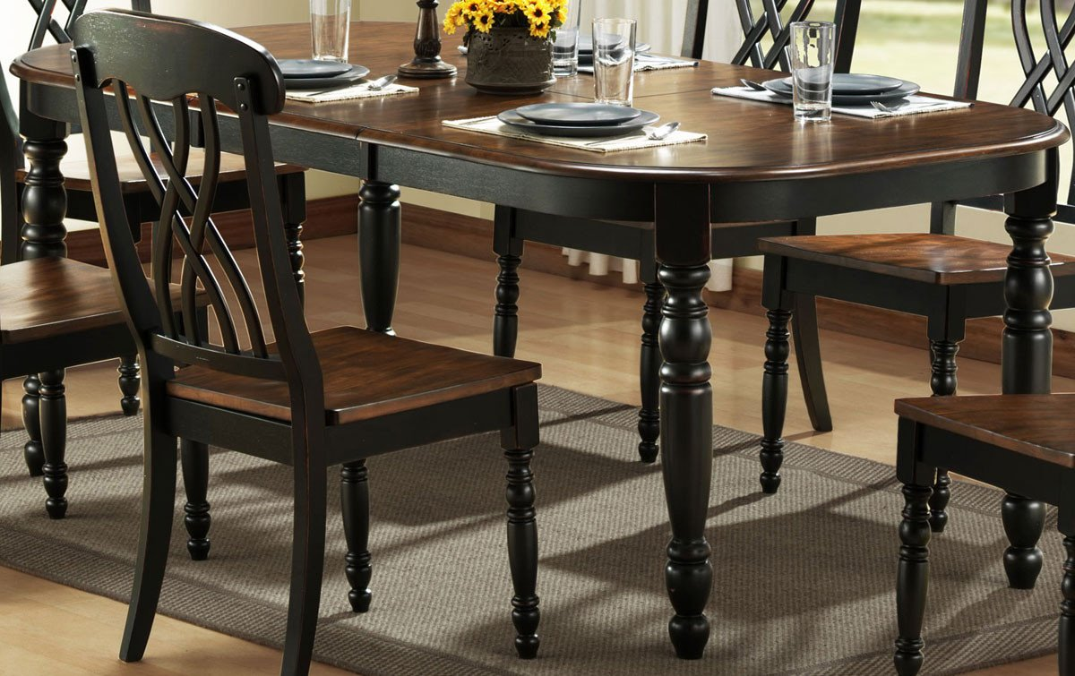 Homelegance Black Dining Table Only Ohana
