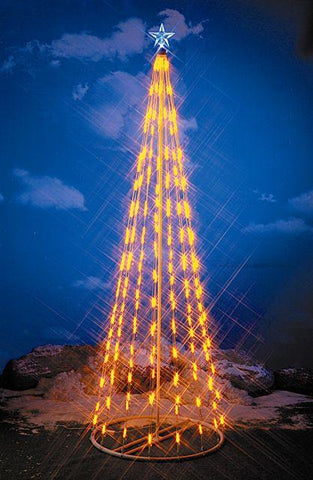 HomeBrite 6 ft. Yellow Light Strand Christmas Tree - Peazz.com