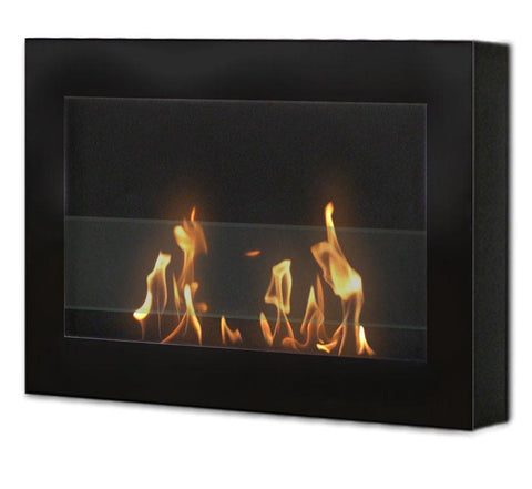 Anywhere Fireplace Indoor Wall Mount Fireplace - SoHo (Black) Model 90200 - Peazz.com