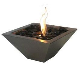 Anywhere Fireplace Empire Indoor/Outdoor Fireplace with Polished Black Rocks 90295 - Peazz.com