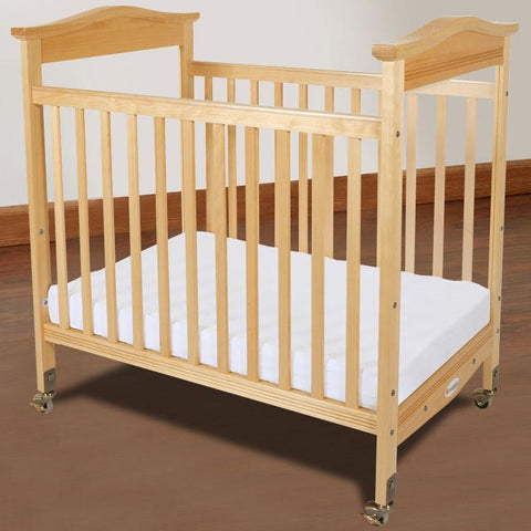 Foundations Biltmore Compact Fixed-Side w/ Adjustable Mattress Board, Clearview - Natural - 1832040 - Peazz.com