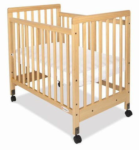 Foundations SafetyCraft Compact Fixed-Side w/ Adjustable Mattress Board Slatted - Natural - 1631040 - Peazz.com