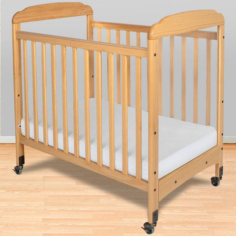 Foundations Serenity Compact Fixed-Side w/ Adjustable Mattress Board, Clearview - Natural - 1732040 - Peazz.com