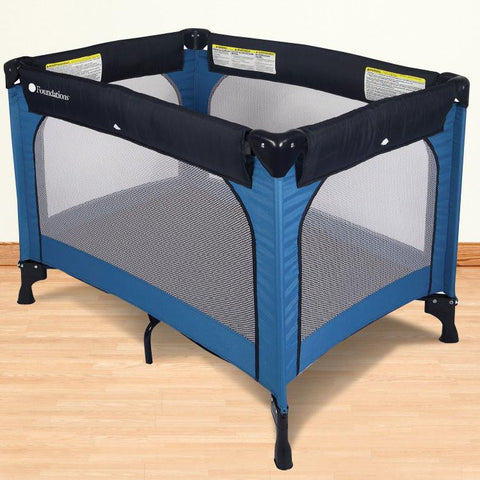 Foundations Celebrity™ Portable Crib - Regatta - 1451037 - Peazz.com
