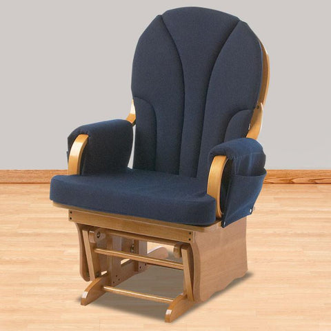 Foundations Lullaby™ Adult Glider Rocker - Natural/Blue - 4201046 - Peazz.com