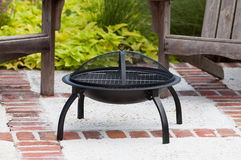"Well Traveled Living 60873 22"" Folding Fire Pit - Peazz.com"