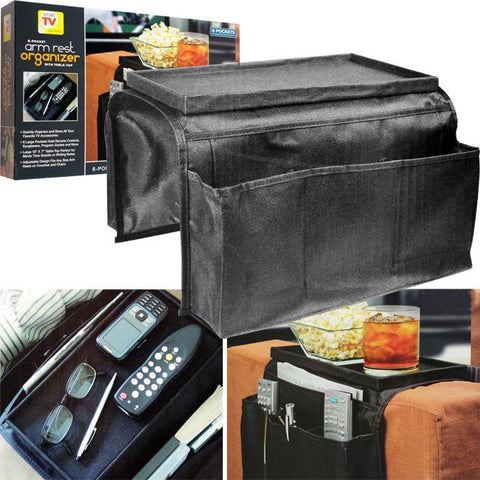 Trademark Commerce 80-02057 Trademark 6 Pocket Arm Rest Organizer w/ Table-Top - Peazz.com