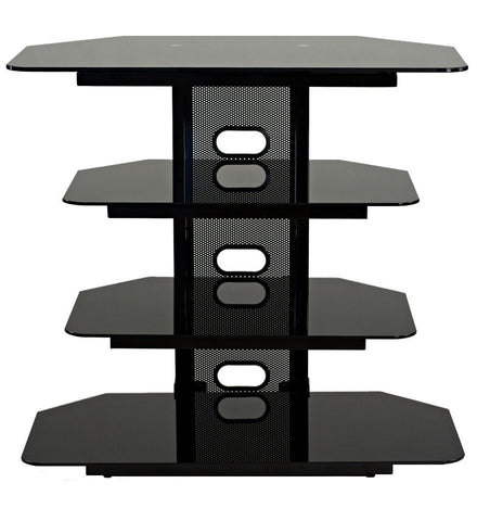 "TransDeco TD510CB Multifunction AV Stand For Up To 35"" LCD Or LED TVs - Peazz.com"