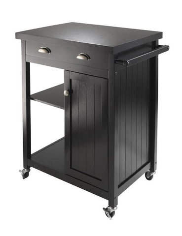 Winsome Wood 20727 Timber Kitchen Cart with Wainscot panel - Peazz.com