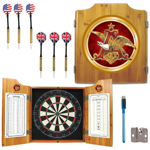 Trademark Commerce AB7000-AE Anheuser Busch A & Eagle Dart Cabinet w/ Darts and Board - Peazz.com