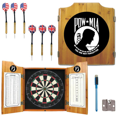 Trademark Commerce POW7000 POW Dart Cabinet Includes Darts and Board - Peazz.com