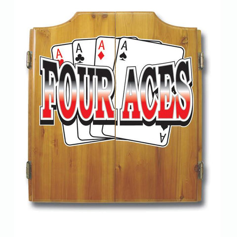 Trademark Commerce FA7000 Four Aces Dart Cabinet includes Darts and Board - Peazz.com