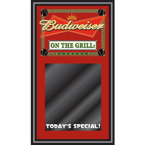 Trademark Commerce AB1500-BBQ-NP Budweiser BBQ Write On Menu Chalk Board - On The Grill - Peazz.com
