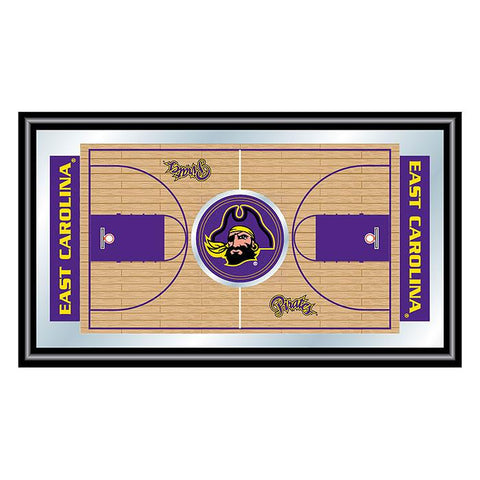 Trademark Commerce CLC1500BB-ECU East Carolina University Framed Basketball Court Mirror - Peazz.com