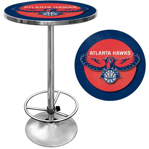 Trademark Commerce NBA2000-AH Atlanta Hawks NBA Chrome Pub Table - Peazz.com