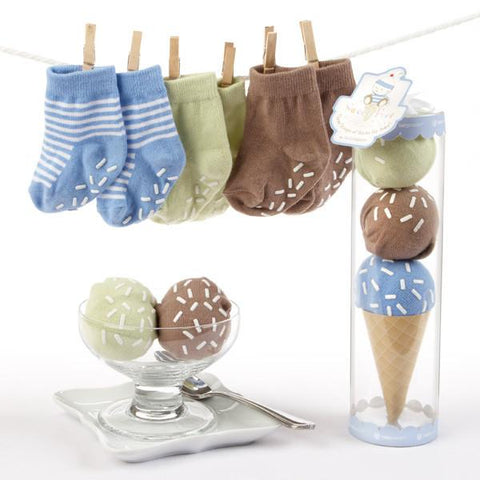 """Sweet Feet"" Three Scoops of Socks Gift Set (Blue) - Peazz.com"